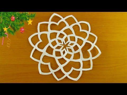 Как сделать снежинку из бумаги смотреть онлайн 68