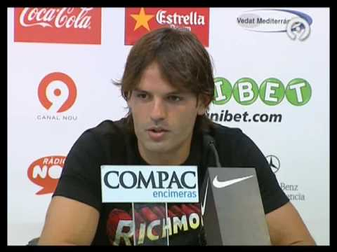 Fernando Morientes last press conference in Valencia Video