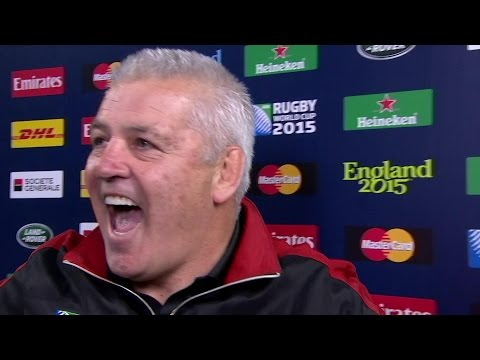 Warren Gatland: We're the ones who are pretty happy