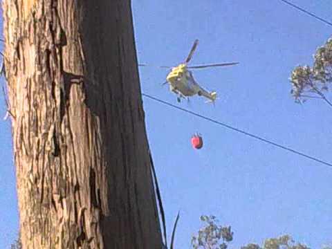 Descarga Helicoptero Incendio Boiro