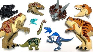 30 LEGO DINOSAURS for Kids! Wrong Heads Dinosaurs! Learn Dinosaur Names