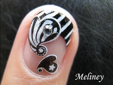 Party Nail Art Designs Nail Art Design Black White