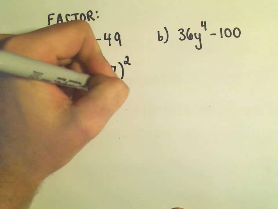 factoring perfect squares worksheet