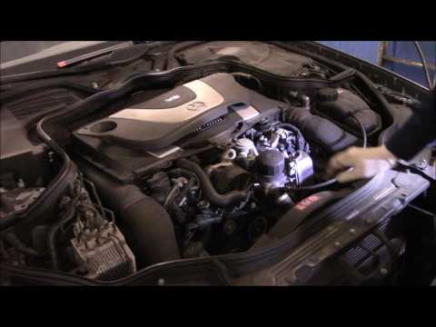 How to change the oil and filter on a 2006 Mercedes Benz E350