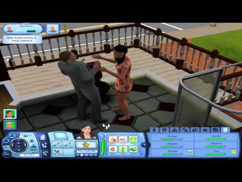 Lets Play The Sims 3 - Part 13 (The Kissing Episode)