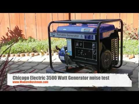 Chicago Electric 3500 Watt Generator Noise Test Review