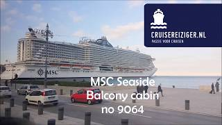 MSC Seaside Balcony Cabin no 9064