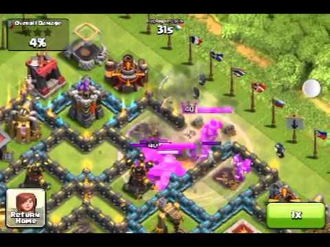 Clan of clans - attack against quantum rage