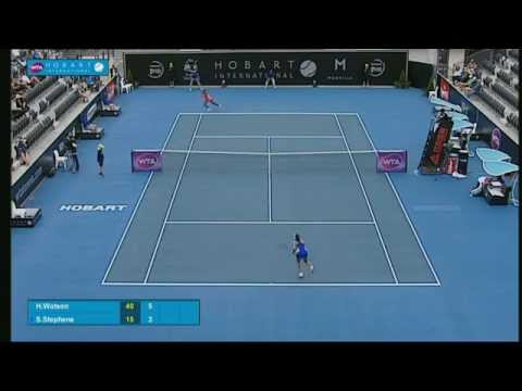 Heather Watson v Sloane Stephens: Full-match replay (2R) - Hobart International 2015