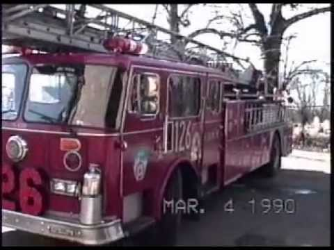 FDNY CHARLIE ORLANDO LADDER 126 ENG 303 : QUEENS NEW YORK 1990