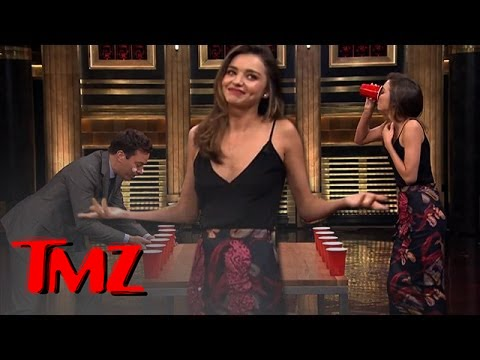 Jimmy Fallon VS Miranda Kerr -- FLIP CUP!