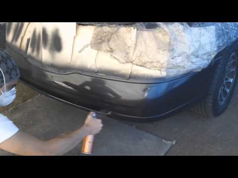 Painting a car part using spray cans Part 2 (Clear Coat)