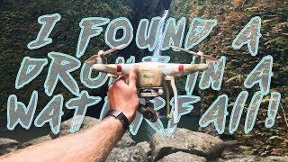 FOUND: DJI Drone in waterfall. UNBELIEVABLE LUCK! @shangerdanger
