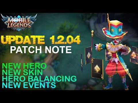 Mobile Legends - Patch Note 1.2.04 | New Hero Harley, New Skin Naughty Joker,New Events and More