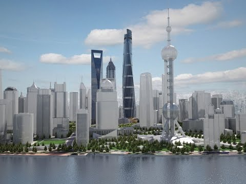 3D Model: Shanghai Tower Downtown- CGriver.com