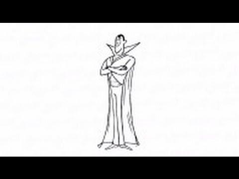 Видео как нарисовать Дракулу