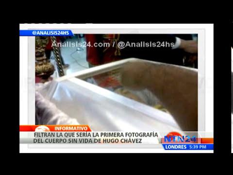 A través de Twitter revelan único registro visual del cuerpo sin vida de Hugo Chávez