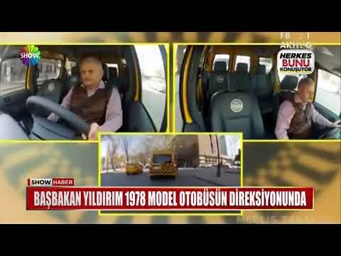 Başbakan Yıldırım 1978 model otobüsün direksiyonunda