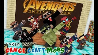 Monster School : INFINITY WAR (Avengers) Crafting CHALLENGE - Minecraft Animation