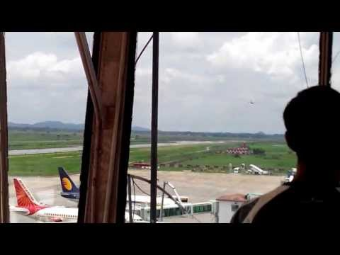 Indian Air Force Aircraft Takeoff view from tower
