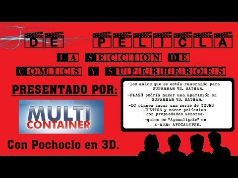 DE PELÍCULA - La sección de comics y superhéroes - SUPERMAN VS BATMAN / Flash / X-MEN APOCALYPSE