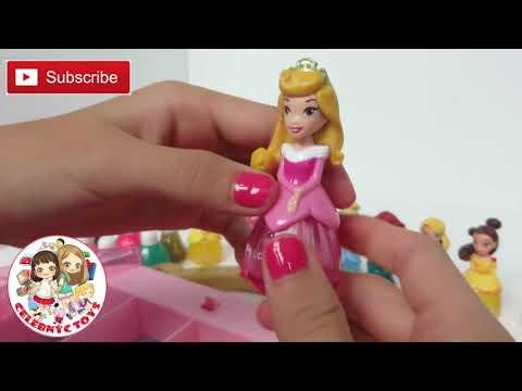 Disney Princess Makeup Set Little Kingdom Collection Sparkle Nail Polish Hair Mascara Lip Gloss