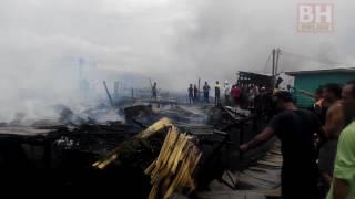 20 rumah terbakar di Tawau