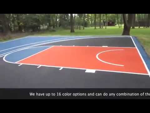 Basketball court for Build your own basketball court