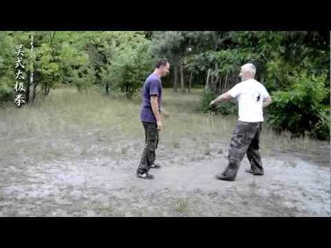 Control of partner in Taijiquan. San shou training. Image 1