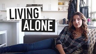 MY EXPERIENCE LIVING ALONE (so far) | the pros and the cons of living by yourself