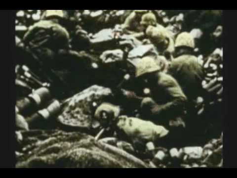 WWII RARE COLOR FILM IWO JIMA 2 OF 3 MARINES CAPTURE MT SURIBACHI