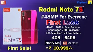 Redmi Note 7S - Price, Full Specifications Confirmed | Redmi Note 7S Super 48MP Camera Launch 20 May