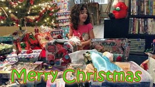 Opening Presents Christmas Morning 2014
