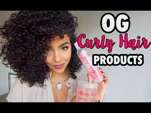 *REVIEW + TUTORIAL* OG Curly Hair Products   KINKY CURLY