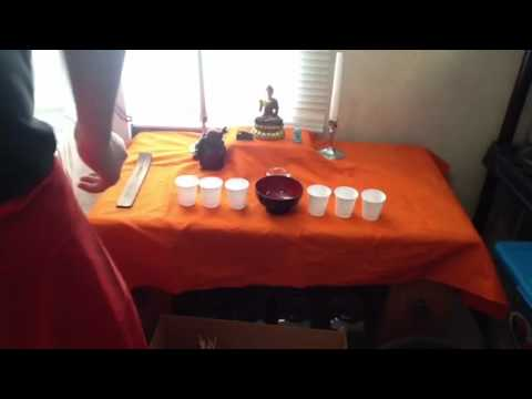 How To Make A Simple Buddhist Shrine Altar Youtube