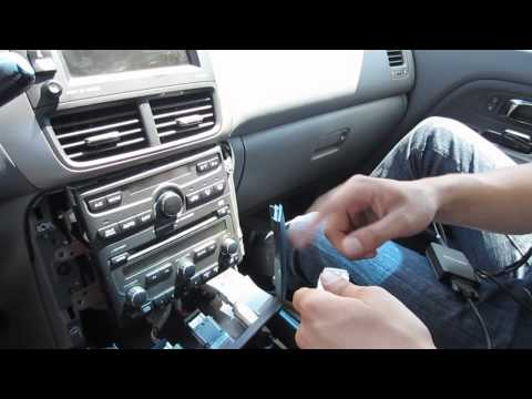 GTA Car Kits - Honda Pilot 2003-2008 Navi install of iPhone, iPod and AUX adapter for factory stereo