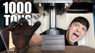 THIS GLASS CAN'T BE BROKEN!! (HYDRAULIC PRESS vs UNBREAKABLE GLASS CHALLENGE)