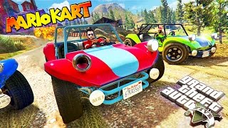 MARIO KART GTA 5!! | Non-Stop Mario Craziness (GTA 5 Funny Moments)