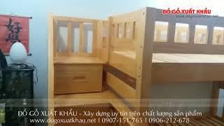 Giường 2 tầng cao cấp cho trẻ em giá rẻ tại TPHCM - Giường tầng gỗ cao cấp HAPPY