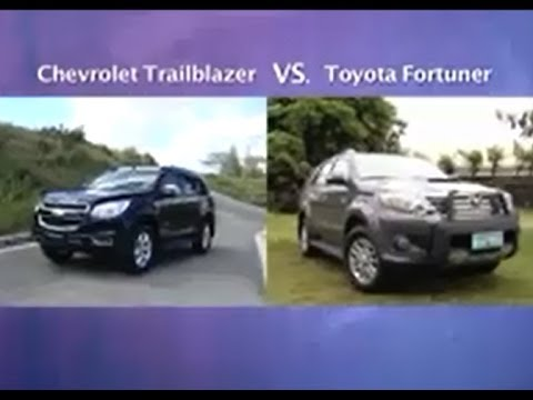 Auto Focus Head 2 Head Chevy Trailblazer vs Toyota Fortuner 2013