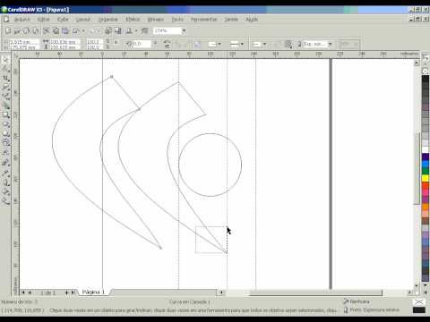 Video aula criando um logotipo no corel draw