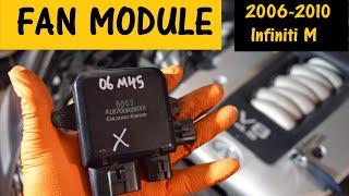 Radiator fans run constantly. Replace Fan Module. Infiniti M35 M45