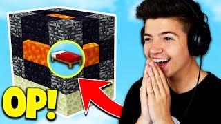 NEW OP BED DEFENSE! (Minecraft BED WARS Trolling) with PrestonPlayz