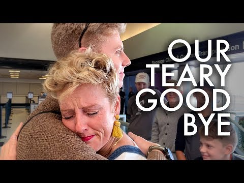 OUR EMOTIONAL GOODBYE TO ELIJAH BEFORE HIS MISSION : Adventuring Family of 11