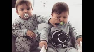 Funny Twins Baby Boys