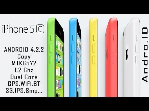 Обзор iPhone 5C копия на Android 4.2.2/MTK6572 GooPhone i5C