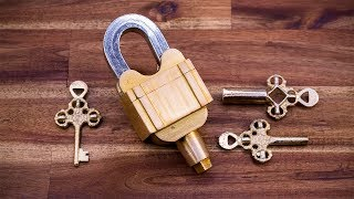 A Padlock With 3 Keys But No Keyholes Illusion And Confusion