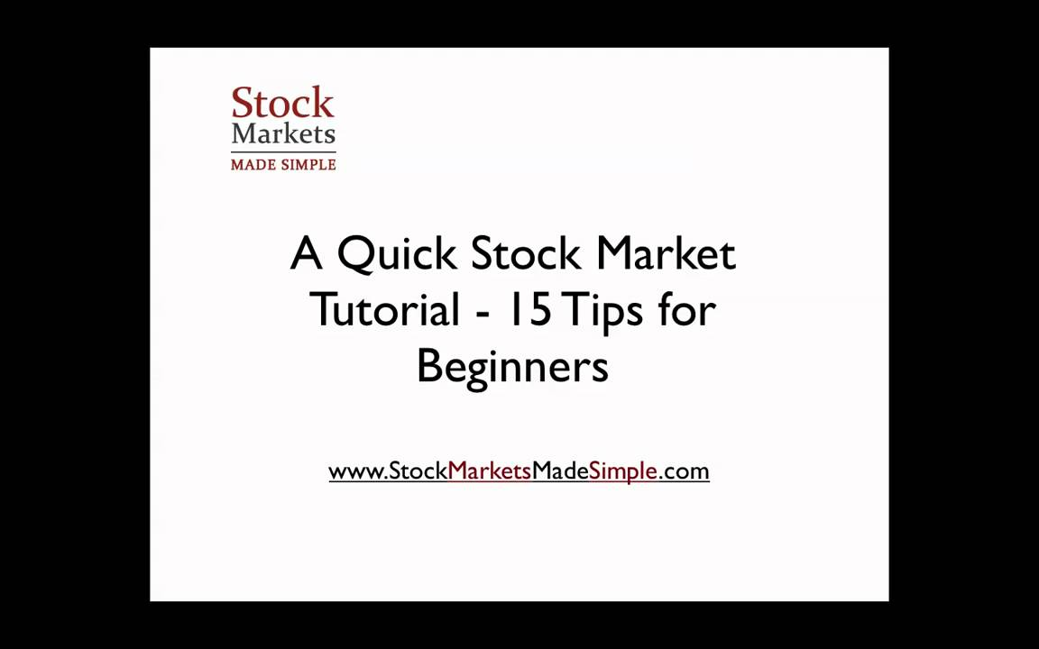 Stock Market Tutorial - The Only Video You'll Ever Need ...