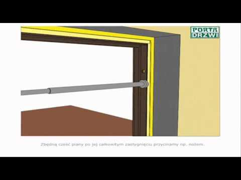 Montaż ościeżnicy stałej metalowej