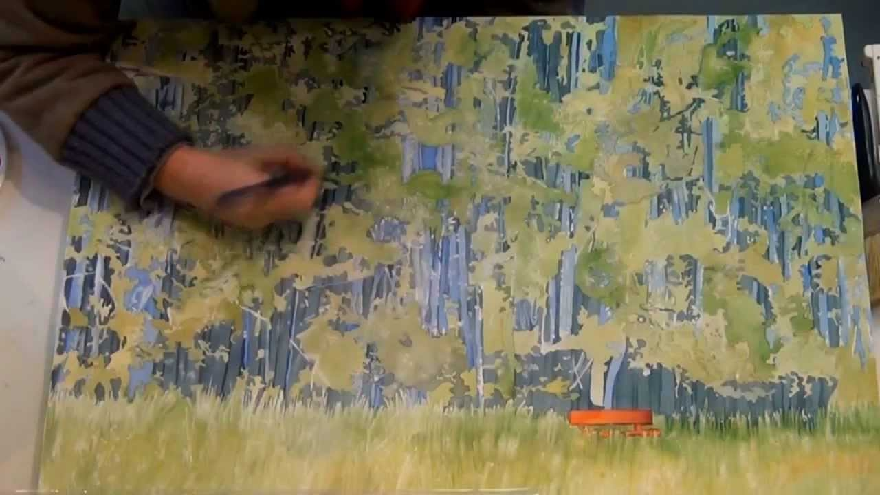 How to Paint Grass in Watercolor How to Paint Grass And Trees